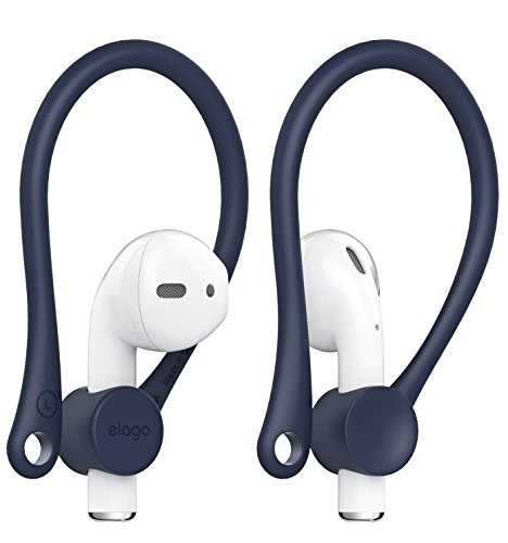 【elago】 AirPods 対応 イヤーフック イヤホン 落下防止 アクセサリー イヤーピース イヤフォン ホルダー [ Apple AirPods1 / AirPods2 Wireless Charging Case エアーポッズ 対応 ] EAR HOOK ジーンインディゴ