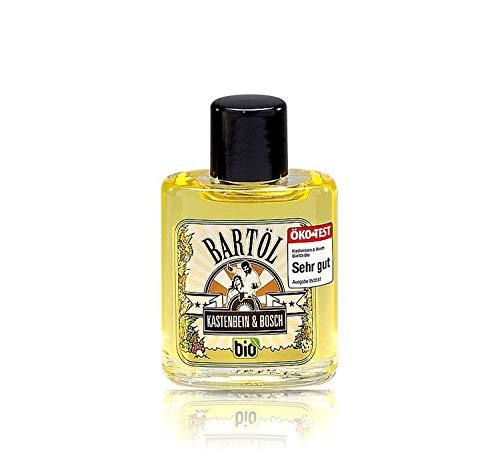 100% natürliches Bartöl - Bio, Vegan & für jeden Bart geeignet - Bartpflege Öl mit Arganöl & Zedernöl für mehr Glanz, Form & Geschmeidigkeit - Bartöl 30ml von Kastenbein & Bosch