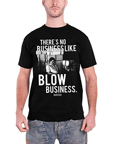 Officially Licensed Merchandise Narcos - Blow Business T-Shirt (Black), Large