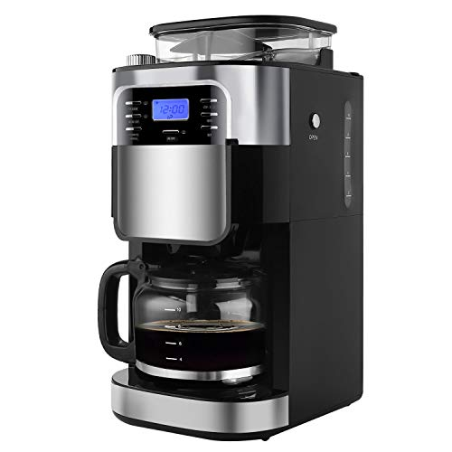 Grind and Brew Automatic Coffee maker Gevi 10 Cup Digital Programmable Drip Coffee Machine Brewer for Kitchen and Office