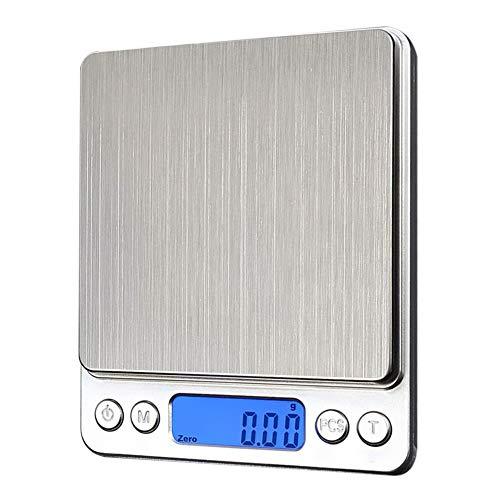 KANJJ-YU Báscula electrónica de cocina multifunción de precisión alimentaria LCD de joyería báscula digital de pesaje electrónico para el hogar y la cocina (rodamiento de carga: 3 kg)