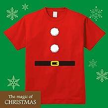 クリスマスにサンタになれるコスプレTシャツ RED (Mサイズ)