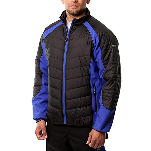 Goodyear GYJKT013_BLKRO_L gewatteerde jas, zwart/koningsblauw, L