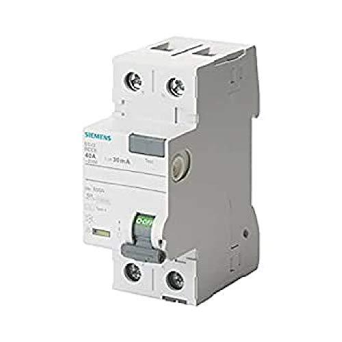 Siemens 5sv - Interruptor diferencial clase-a 2 polos 63a 300ma 70mm