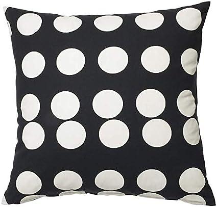 Ikea 704 438 29 Federa Per Cuscino Klarastina Colore Nero E Bianco Amazon It Casa E Cucina