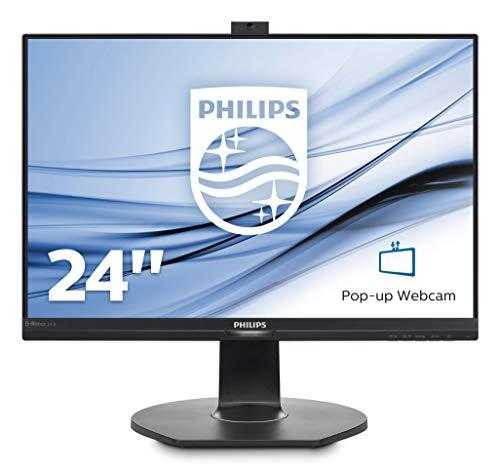 Philips 241B7QPJKEB Webcam Monitor 24' LED IPS, Full HD, Microfono Integrato, Regolabile in Altezza,...