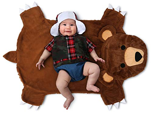 Princess Paradise unisex baby Swaddle Wings Drooly Drac Deluxe Infant and Toddler Costumes, Bear Hunter, 0-3 Months US