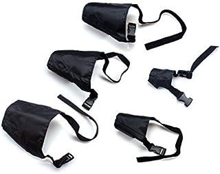 ewinever 5Pcs/Set Adjustable Breathable Safety Small Medium Large Extra Dog Muzzles for Anti-Biting Anti-Barking Anti-Chew...
