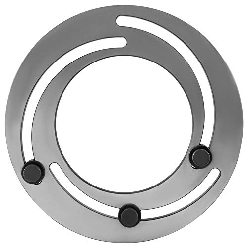 Mophorn Portabrocas de 3 Mordazas de Acero 20.3 cm Anillo para Tornos CNC