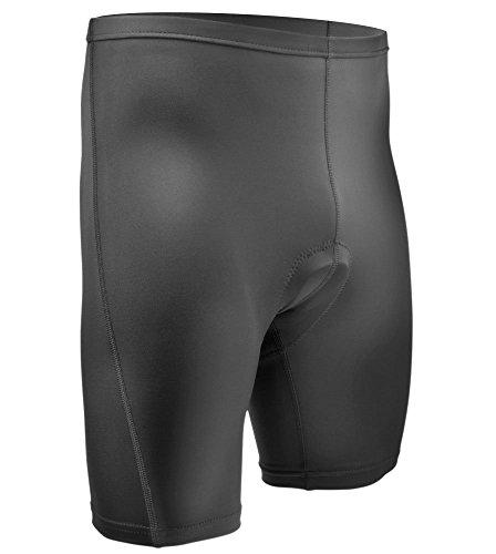 AERO|TECH|DESIGNS Men's Classic Padded Bike Shorts Cycling Shorts Men Black