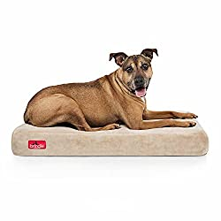 "Brindle 4"" solid orthopedic memory foam dog bed"