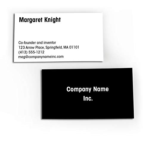 Buttonsmith Custom Basic Black Premium Printed Business Cards - 3.5'x2' - Quantity 500 - Double-Sided, 110 lb Smooth Touch - Basic Black - Made in The USA
