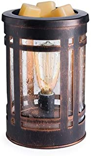 CANDLE WARMERS ETC. Edison Style Illumination Fragrance Warmer- Light-Up Warmer for..