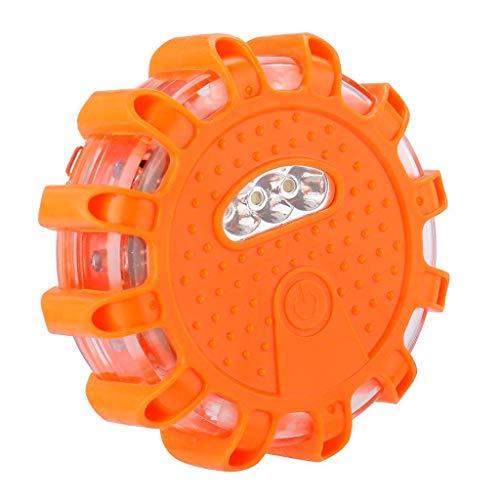 Neu LED Warnleuchten Warnlicht mit Magnet Rundum-Warnblinkleuchte Sicherheitsfackel-Kit für Auto 9 Leuchtmodi,Wasserdicht Kabellos Antikollisions Sicherheitswarnleuchten Auto Ein/Aus