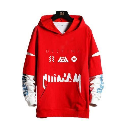 Herrenjacke Windjacke Hutmantel Destiny 2 Destiny Pc Spielkleidung Geeignet FüR Jungen Und MäDchen Sowie Velvet Casual Sweater,red,XL(175-180cm)