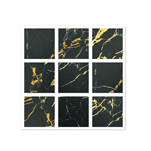Baijiaye DIY Mozaïek Wandtegels Stickers Kleurrijke Schilderij Stijl Decoratieve Tegels Sticker Anti-slip Lijm Vloerstickers in Muurstickers van Huis & Tuin Zwart 10X10cm(3.93 * 3.93inch)