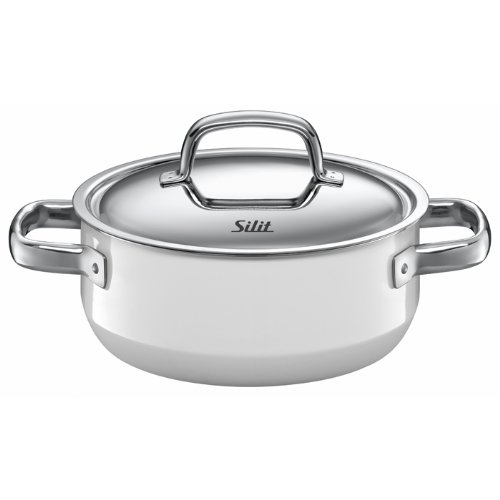 Silit Fresh 2-1/2-Quart Low Casserole with Lid, Polar White