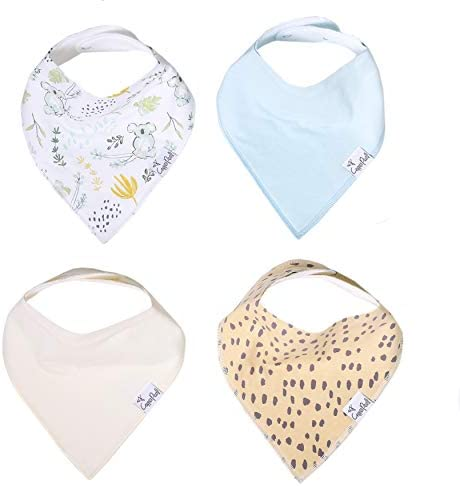 Baby Bandana Drool Bibs for Drooling and Teething 4 Pack Gift Set Aussie by Copper Pearl product image