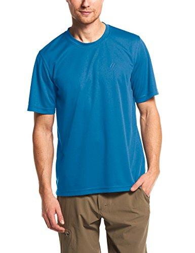 Maier Sports T-Shirt Fonctionnel Walter pour Homme M Bleu/Gris/éléments réfléchissants