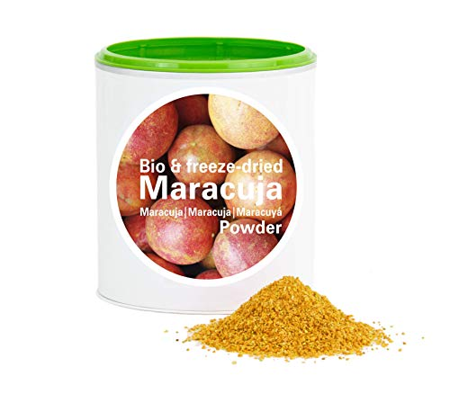 Maracujapulver – Bio Maracuja gefriergetrocknet |bio organic| freeze-dried passion fruit| good-superfruit von good-smoothie| 100% frucht |ohne zusatzstoffe + viele Inhaltsstoffe| 120g