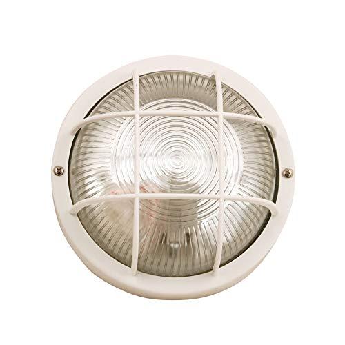 VELAMP Lampada Bubble-B Applique a Parete/plafoniera Tonda 18,8cm. in plastica + Vetro E27...