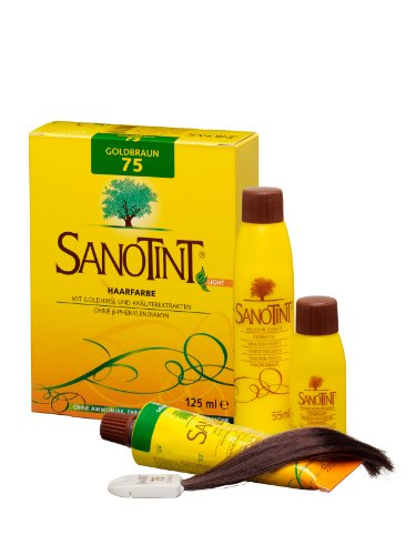 SANOTINT® Haarfarbe sensitive ?light? Nr. 75 ?Goldbraun? (125 ml)