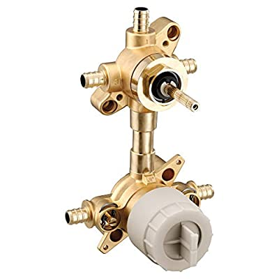 Moen U362XS M-CORE 3-Series Mixing 3 or 6 Function Integrated Transfer Valve with Crimp Ring PEX Connections and Stops, or Unfinished