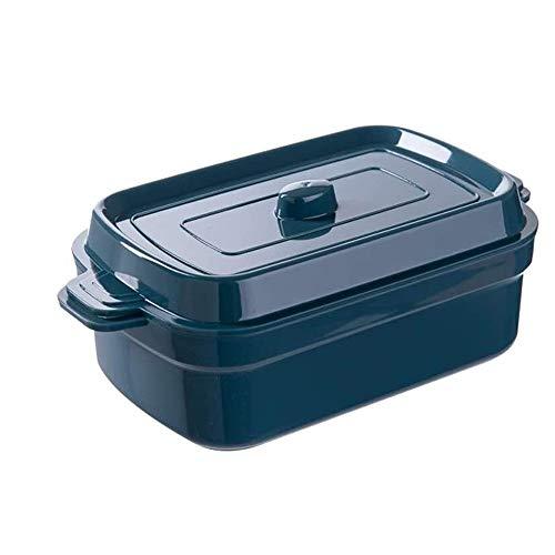 CHENCfanh Fiambrera Rectangular de Doble Capa Fresca de Estudiantes de Mantenimiento de la Caja de Almuerzo, Cubierto Alimentación Atracción contenedor de Almacenamiento, Snack Food Bento Box