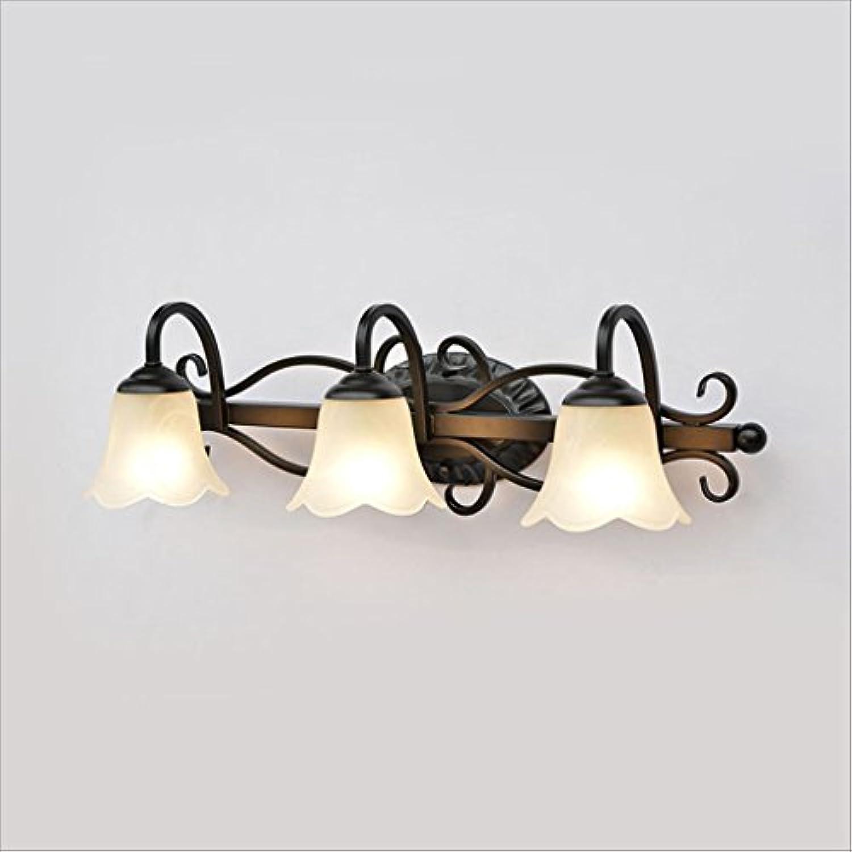LU-Badezimmer Amerikanische Spiegel-vordere Lampen-Retro- kreative Badezimmer-Spiegel-Wand-Lampe LED-Spiegel-Kabinett-Lichter (ausgabe   Weies Licht-60  17cm)