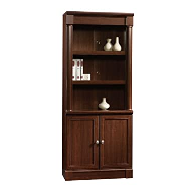 Sauder Palladia Library with Doors, Select Cherry