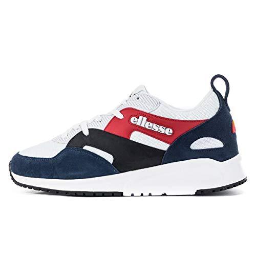 ellesse Sneaker Herren Potenza LTHR AM 6-10342 WHT/DK Blue/BLK Weiss Blau Schwarz, Schuhgröße:44.5