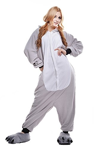 ABYED® Kostüm Jumpsuit Onesie Tier Fasching Karneval Halloween, Koala - 4