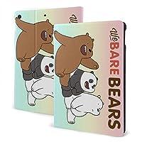 """タブレットケース Ipad ケース We Bare Bears(ぼくらベアベアーズ) Ipad 7th 10.2インチ Ipad Air3 & Pro 10.5インチ 高級puレザー カバー レザーケース バックカバー 軽量 薄型 スタンドカバー スマートカバー 全面保護 フロントスタンド Ipad 7th 10.2"""""""