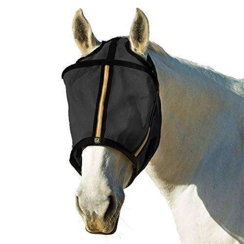 Edele Outfitters bewaker vlieg masker geen oren - zwart - groot - paard vlieg maskers