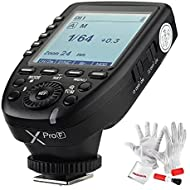 Godox Xpro-F for Fuji Fujifilm TTL Wireless Flash Trigger, 1/8000s HSS, TTL-Convert-Manual Function, Large Screen, 5 Dedicated Group Buttons, 11 Customizable Functions with PERGEAR Cleaning Kit