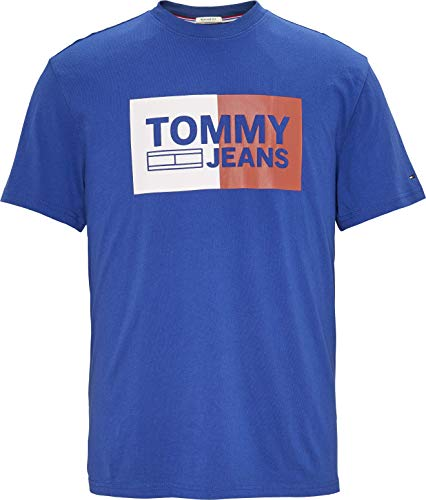 Tommy Jeans Men's T-Shirt Short Sleeve Graphic Logo Tee, Limoges, Small