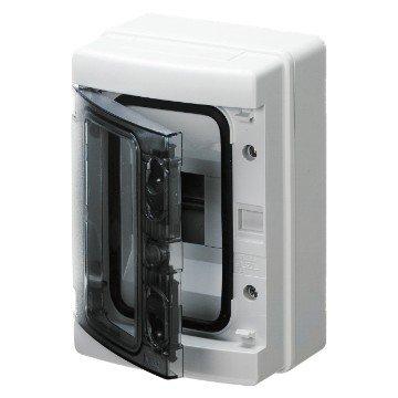 Gewiss Centralino stagno con pareti lisce predisposto per alloggiamento morsettiere IP65 GW40101 (4 Moduli)