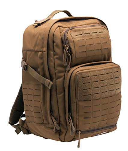 LA Police Gear Atlas 24H MOLLE Tactical Backpack for Hiking, Rucksack, Bug Out, or Hunting-Coyote