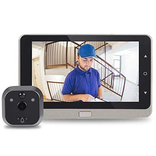 Bewinner - Visor Digital para Puerta (Pantalla OLED de 720p, visión Nocturna, detección de Movimiento, grabación de vídeo, cámara de Seguridad de 160°, Gran Angular)
