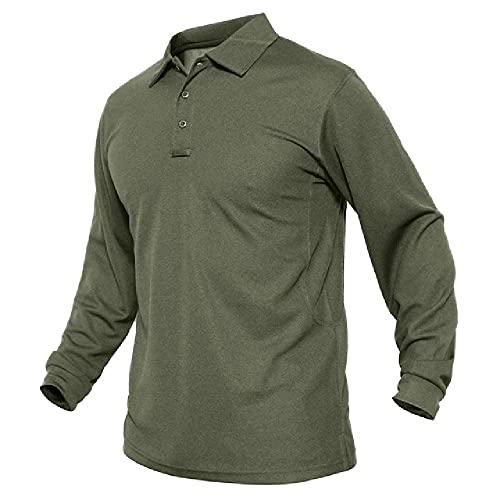 N\P Camisas de manga larga para hombre de golf Camisetas militares de camping camisetas deportivas transpirables