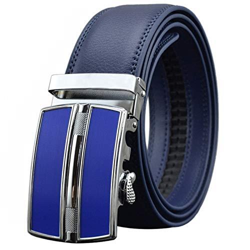 Xme Cinturón de negocios para hombres de estilo caliente con hebilla automática, cinturón de cinturón de pantalón casual de cuero para hombres