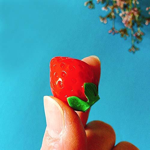 L/M/S Größe Erdbeere/Puppenhaus/Miniaturen Obst/reizendes nettes/Fee Gartenzwerg/Moos Terrarium Deko/Handwerk/Bonsai/DIY Supermarkt: 1 XL-Größe
