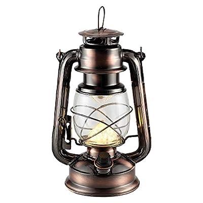 Rechargeable Vintage Hurricane Lantern, Metal H...
