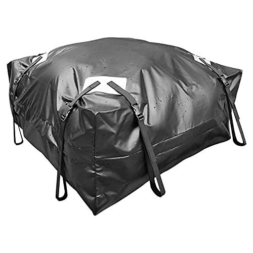 GoRIKI - Box da tetto per auto, impermeabile, 425 l, antipolvere, per tetto e bagagli, pieghevole, con 8 cinghie regolabili per qualsiasi auto, camion, SUV