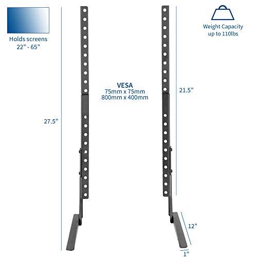 VIVO - Soporte Universal para televisor LCD de Pantalla Plana VESA para Pantalla Plana, Color Negro   Base para 22' a 65' (STAND-TV00Y)
