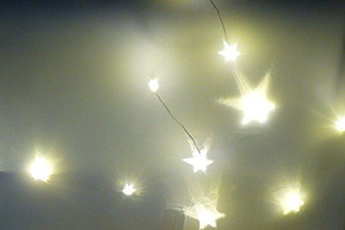 Set 3D Lichteffekt Folie Hologrammfolie mit 2x 10er LED Kupferdraht Lichterkette Warmweiss 120 cm
