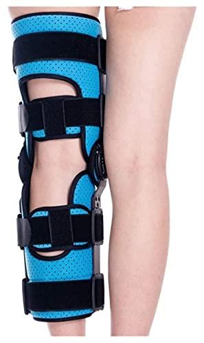 Pierna de la pierna inmovilizadora de la rodilla, tirantes de rodilla ajustables con correa para ACL, ligamento, lesiones deportivas de la ortesis articulada de la rodilla con bisagras Patella