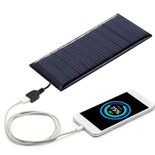 SALUTUYA Cargador Solar al Aire Libre 50MA 5V 30 * 60mm Panel de Cargador Solar Cargador de Panel Solar policristalino para Luces publicitarias