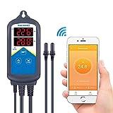 Inkbird ITC-306A WiFi Aquarium Temperature Controller Aquarium Thermostats with Dual Heating Socket