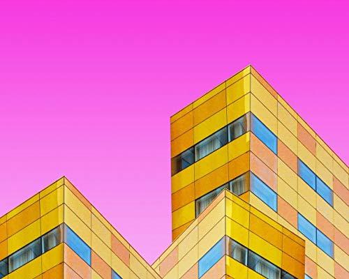 Pintar por NúMeros para Adultos Y NiñOs Kits De Regalo De Pintura Al óLeo DIY Arte De Lienzo Preimpreso DecoracióN del Hogar Edificios Fachadas Arquitectura GeometríA